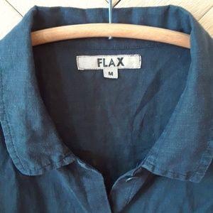 FLAX Short Sleeve 100% Linen Blouse